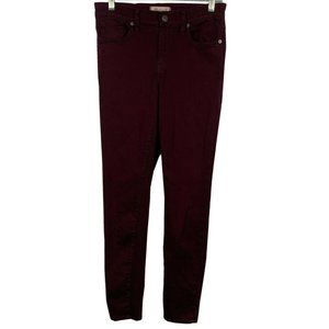 Madewell Women's  Skinny Maroon jeans- Size 26